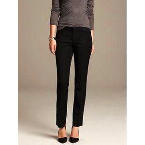 BANANA REPUBLIC Black Sloan Cotton Trousers